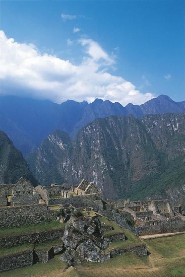 Peru, Urubamba Valley, Incas Ruins of Machu Picchu--Giclee Print