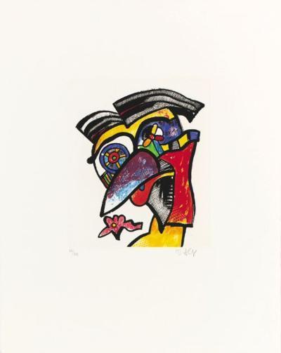 Perücken-Scheitel-Hokko, c.1996-Otmar Alt-Limited Edition