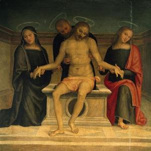 Lamentation over the Dead Christ by Perugino