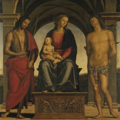 Madonna and Child with Saint John the Baptist and Saint Sebastian