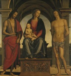 Madonna and Child with Saint John the Baptist and Saint Sebastian by Perugino
