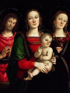 Madonna and Child with Saints Catherine of Alexandria and John the Baptist by Perugino