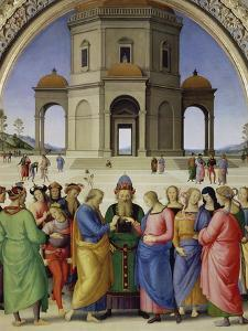 The Marriage of the Virgin, about 1500 by Perugino