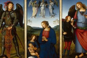 Three Panels from an Altarpiece, Certosa, C. 1500 by Perugino