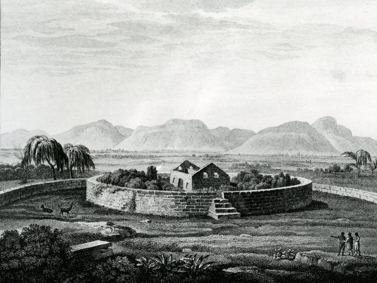 Peruvian Monument of Canar-Friedrich Alexander Humboldt-Giclee Print
