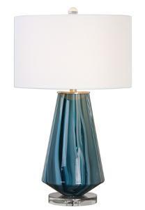 Pescara Teal-Gray Glass Lamp