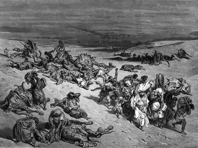 Pestilence, One of the Seven Plagues of Egypt, 1866-Gustave Dor?-Giclee Print