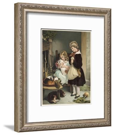 Pet Rabbits--Framed Giclee Print