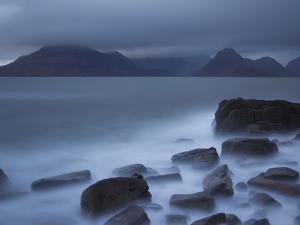View Towards Cuillin Range from Elgol Beach. Skye, Scotland, October by Pete Cairns