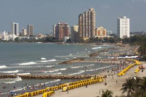 Beach Front, Cartagena, Atlantico Province. Colombia by Pete Oxford