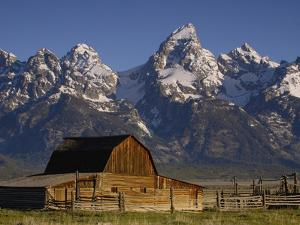 Cunningham Cabin in Front of Grand Teton Range, Wyoming by Pete Oxford