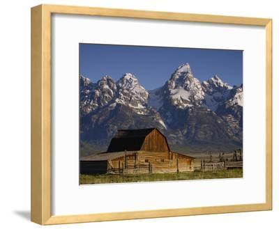 Cunningham Cabin in Front of Grand Teton Range, Wyoming