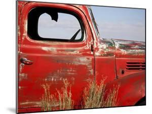 A Close-Up of an Abandoned Red Truck by Pete Ryan