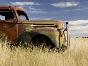 Abandoned Pickup Truck Near Divide by Pete Ryan