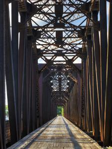 An Old Steel Bridge That Crosses the South Saskatchewan River by Pete Ryan