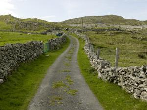 Country Road Lined with Stone Walls, Inishturk Island, County Mayo, Ireland by Pete Ryan