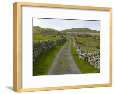 Country Road Lined with Stone Walls, Inishturk Island, County Mayo, Ireland
