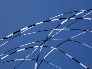 Detail of Three Kite Tails Crossing One Another by Pete Ryan