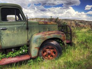 Old Mining Truck Rusts in a Field at the Atlas Coal Mine by Pete Ryan