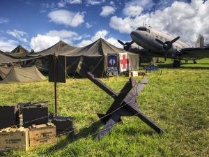 Replica WWII Army Airfield with DC-3 Plane, Medic Tent and Munitions by Pete Ryan