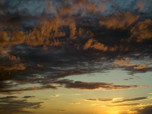 Sunset Prairie Skies over the Big Muddy Badlands by Pete Ryan