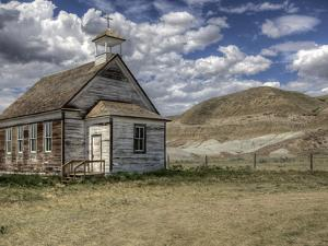The Abandoned Catholic Church in the Alberta Badlands at Dorothy by Pete Ryan