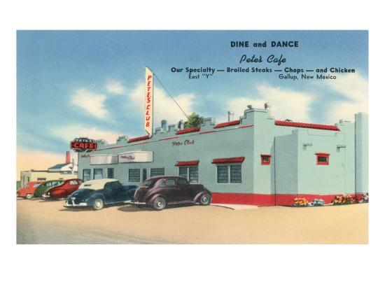 Pete's Cafe, Gallup, New Mexico, Route 66--Art Print