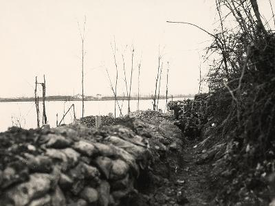Peteano at the Isonzo River During World War I-Ugo Ojetti-Photographic Print