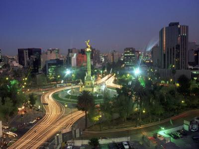 Aerial View of Mexico City at Night, Mexico