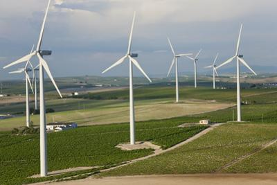 Aerial View of Wind Turbines, Andalusia, Spain by Peter Adams