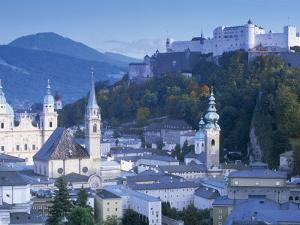 Alt Stadt and Hohensalzburg Fortress, Salzburg, Austria by Peter Adams