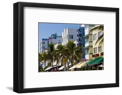 Art Deco Area with Hotels, Miami, Florida, USA