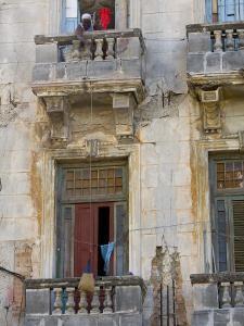 Balconies, Havana, Cuba by Peter Adams
