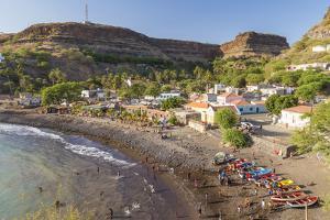 Bay, Beach and Cidade Velha Village, Santiago Island, Cape Verde by Peter Adams