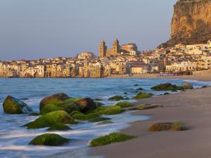 Beach at Sunset, Cefalu, North Coast, Sicily by Peter Adams