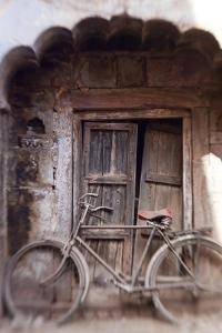 Bicycle in Doorway, Jodhpur, Rajasthan, India by Peter Adams