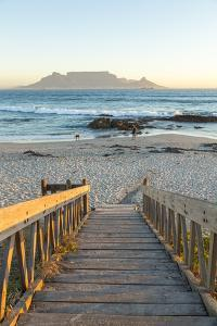Bloubergstrand Beach with Table Mountain in Background. Cape Town, Western Cape, South Africa by Peter Adams