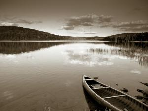 Boat on Lake in New Hampshire, New England, USA by Peter Adams