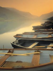 Boats on Lake, Wales by Peter Adams