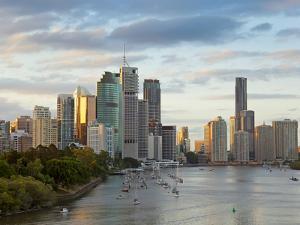 Brisbane Skyline, Queensland, Australia by Peter Adams