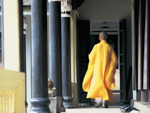 Buddhist Monk, Hue, Vietnam by Peter Adams