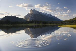 Canada, Mt Rundle, Vermillion Lake and Ripple by Peter Adams