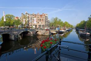 Canal, Amsterdam, the Netherlands, Holland by Peter Adams