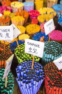 Chopsticks with Chinese Animal Zodiac Signs, Chinatown, Singapore by Peter Adams