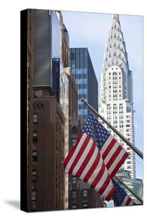 Chrysler Building with Star and Stripes, New York, USA