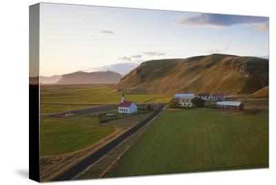 Church and Small Group of Houses Near Vik, Iceland