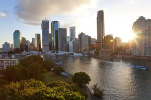 City Center and Central Business District. Brisbane, Australia by Peter Adams