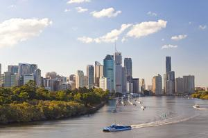 City Center and Central Business District Skyline, Brisbane, Australia by Peter Adams