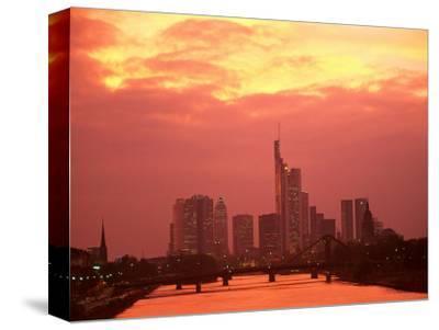 Cityscape at Dusk of Frankfurt, Germany