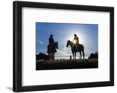Cowboys on Horses, Sunrise, British Colombia, Canada